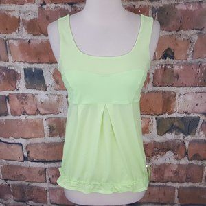 Lululemon Elevate Tank Top Clear Mint Neon 6